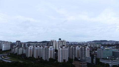 Residential Cityscape in Gyeonggi-do Province, Korea Live Action
