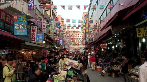 Namdaemun Market in Seoul, Korea Footage