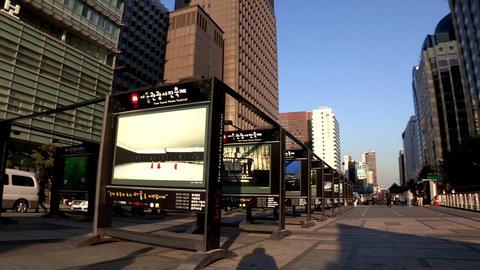a Cityscape of Seoul, Korea Footage