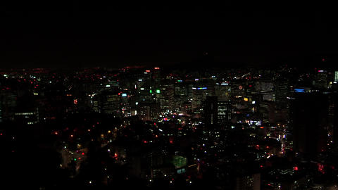Night view in Seoul, Korea Live Action