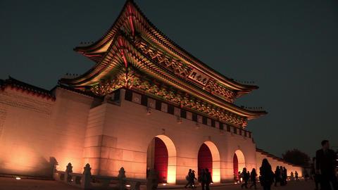 Gwanghwamun Square in Seoul, Korea Footage