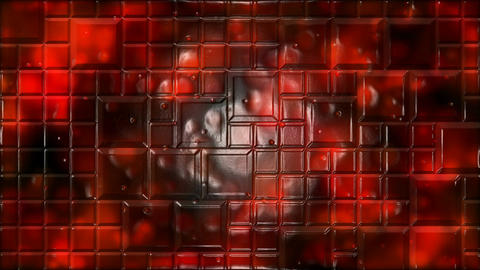 Abstract Tiled Background Animation - Loop Red Animation