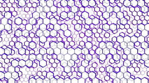 Scrolling Hexagon Background Animation - Loop Purple Animation