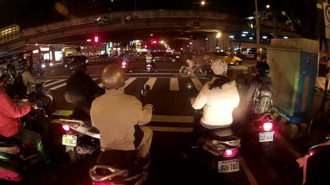 Hyperlapse of Taipei City traffic at night Live Action