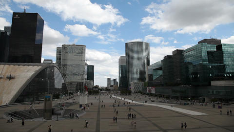 La Défense, Paris, France stock footage