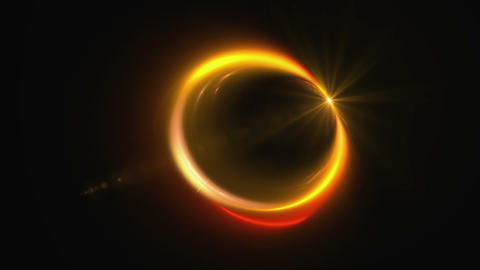 Dynamic fiery rotational motion forming a circle with flare Animation