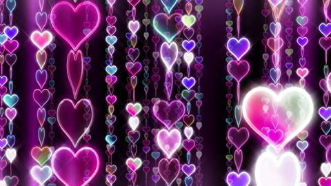Chain line Heart 2 Rf Hb 4 K CG動画素材