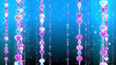 Chain line Heart 2 Rm Hs 4 K CG動画素材