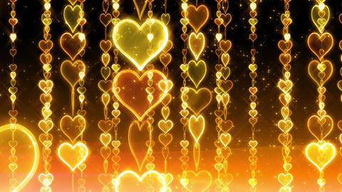 Chain line Heart 2 Ry Hb 4 K CG動画素材