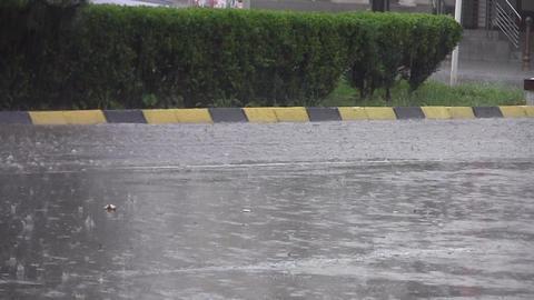 Car traffic on heavy rain 09 Footage