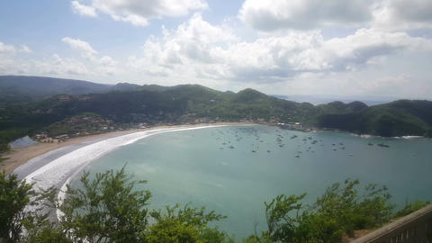 San Juan del Sur from hill Footage