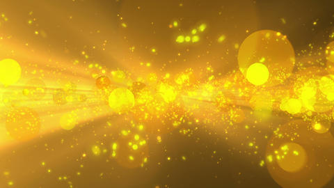 A golden shining particle coming Animation
