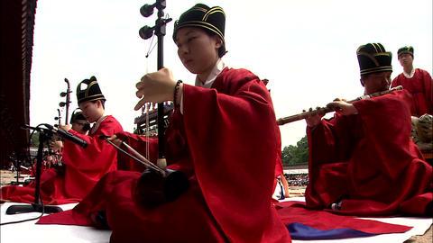 Korean traditional music parade and Royal ancestral ritual in the Jongmyo 영상물