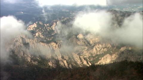 Winter Landscape of Seoraksan Mountain in Inje-gun, Gangwon-do, Korea Footage
