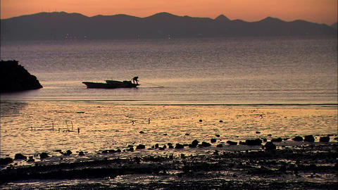 Ocean In Jangheung-gun, Jeollanam-do, Korea stock footage