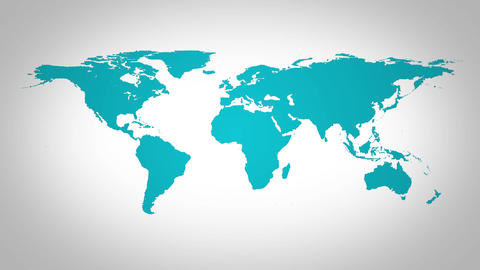 Circular Ball Shape World Map Showing Intro ,logo Reveal stock footage