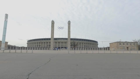 Olympic stadium exterior on December 1, 2015 in Berlin, Germany. It's the second Live Action