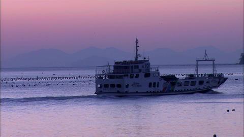 Fishing Boat in Haenam-gun, Jeollanam-do Province in Korea Live Action