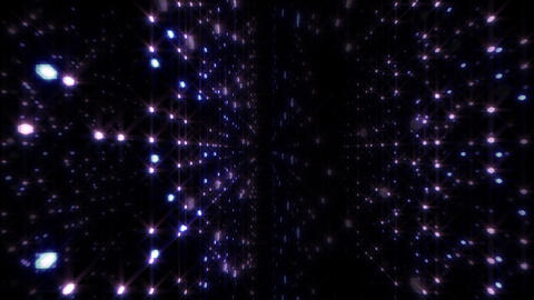 LED Light Space Hex 4p B 2 HD Stock Video Footage