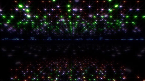 LED Light Space Hex 4u A 2 HD Stock Video Footage