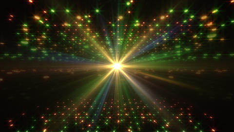 LED Light Space Hex 4u B 2v HD Stock Video Footage