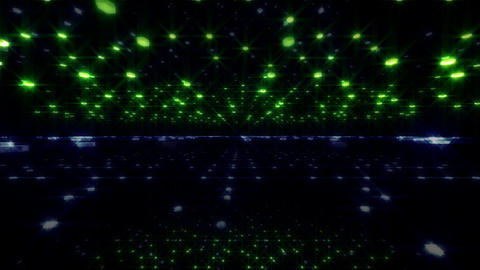 LED Light Space Hex 4u D 2 HD Stock Video Footage