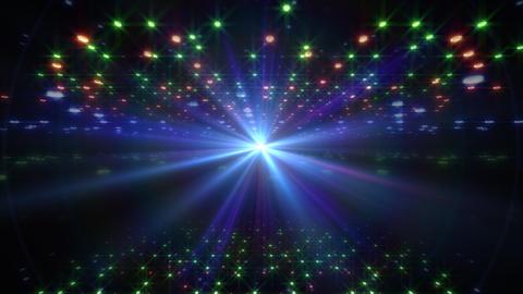 LED Light Space Hex 4u E 2v HD Stock Video Footage