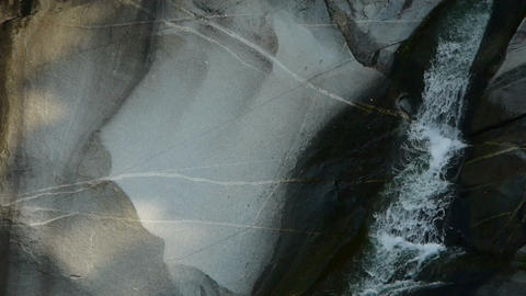 Mountain waterfall stream,stone texture mechanism Stock Video Footage