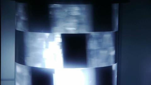 Rotating neon light Stock Video Footage