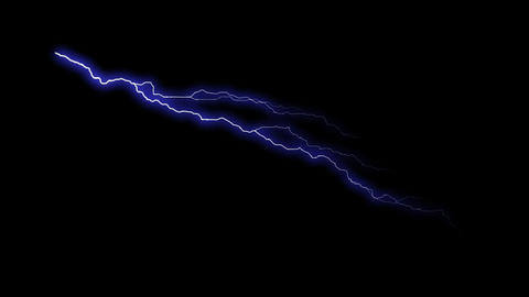 HD Loopalbe Thunder Animation with Alpha Channel Animation