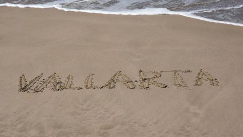 Sunny Beach Vacation in Puerto Vallarta Mexico Stock Video Footage