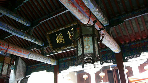 Chinese ancient building,carved-beams & painting-houses Footage