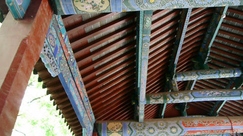 Chinese ancient building,carved-beams & painting-houses Stock Video Footage