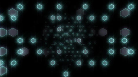LED Light Space Hex 4i B HD Animation