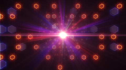 LED Light Space Hex 4i B 2v HD Stock Video Footage