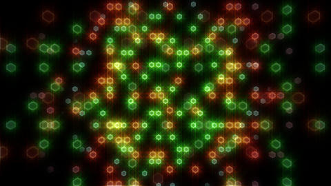 LED Light Space Hex 4i C 2 HD Stock Video Footage