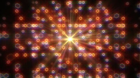 LED Light Space Hex 4i E 2v HD Stock Video Footage