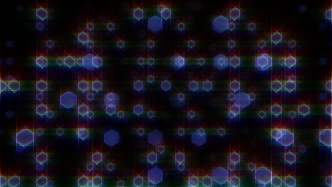 LED Light Space Hex 4 L C HD Stock Video Footage