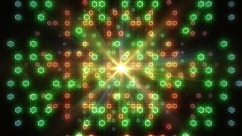 LED Light Space Hex 4 L C 2v HD Stock Video Footage