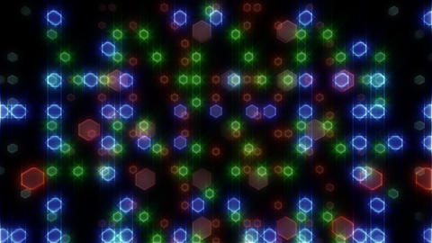 LED Light Space Hex 4 L D 2 HD Stock Video Footage