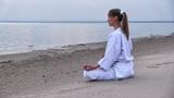 sunset meditation Footage