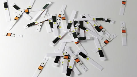 Test strips have fallen Stock Video Footage
