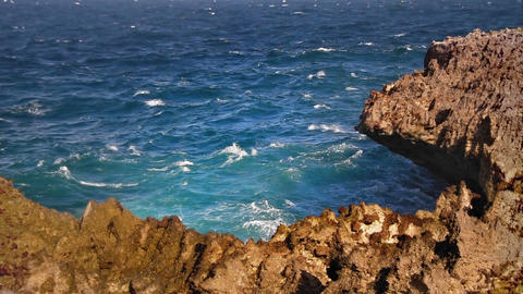 Sharp rocky cliff loop Stock Video Footage