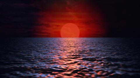 Sea Sunset - video background loop Stock Video Footage