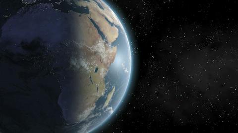 Earth (Highend) Sunrise Over Africa CGI HD Stock Video Footage