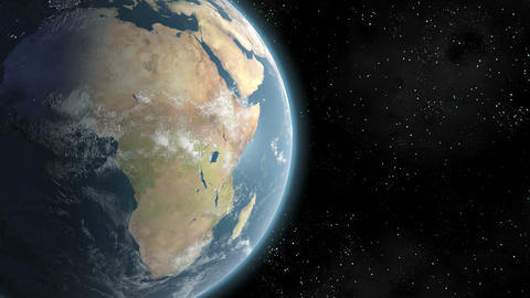 Earth (Highend) Sunrise Over Africa CGI HD Animation