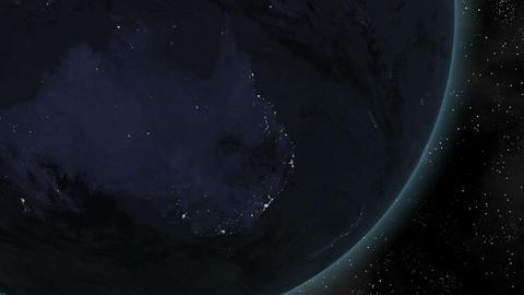Earth (Highend) Sunrise Over Australia CGI HD Stock Video Footage