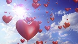 HeartBalloons - video background loop Animation