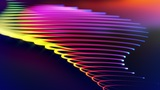 Spirona - Moving And Bending Colorful Strokes Video Background Loop Animation