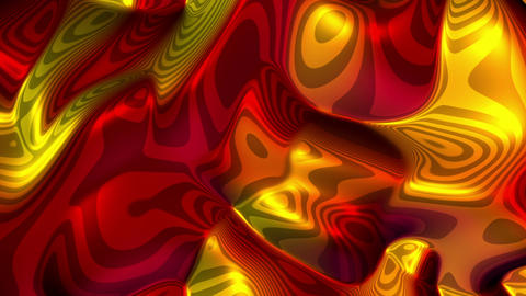 Tella - Organic Chrome-like Fractal Video Background Loop Stock Video Footage